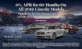 0% APR for 60 Months on All 2019 Lincoln Models