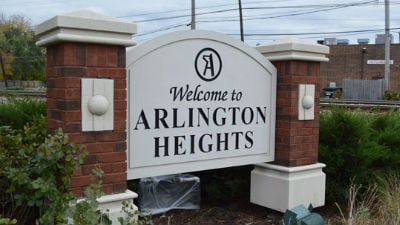 Arlington Heights Town Sign