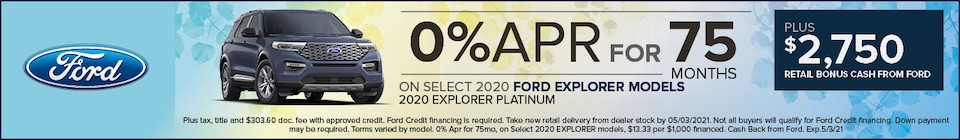 0% Apr for 75mo