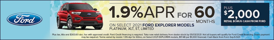 1.9% APR  financing for 60 months