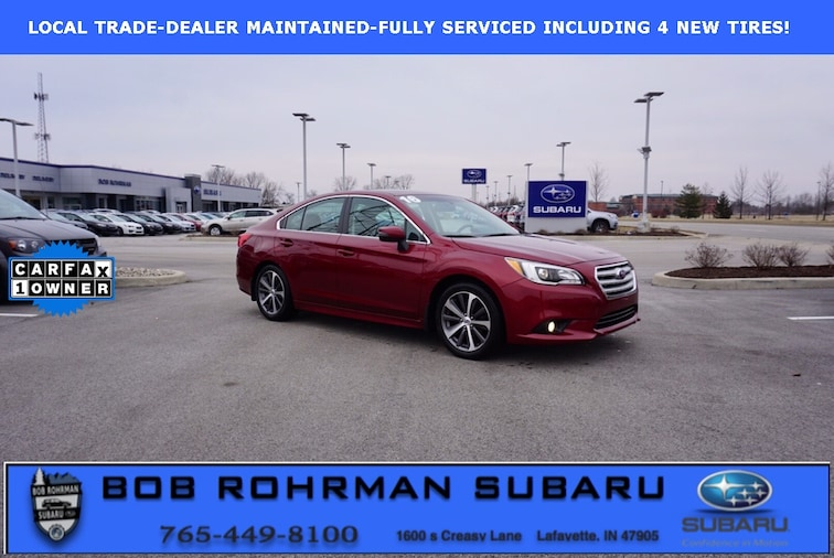 Used 2016 Subaru Legacy 2.5i Sedan for sale in Lafayette, IN at Bob Rorhman Subaru