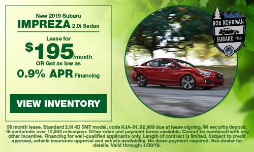 2019 Subaru Impreza - April