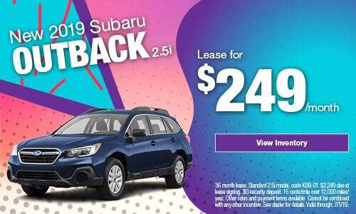2019 Subaru Outback Lease - June