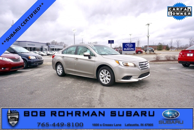 Used 2017 Subaru Legacy 2.5i Sedan for sale in Lafayette, IN at Bob Rorhman Subaru