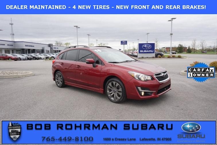 Bob Rohrman Used Cars >> Used 2016 Subaru Impreza 2 0i Sport Premium For Sale In Lafayette