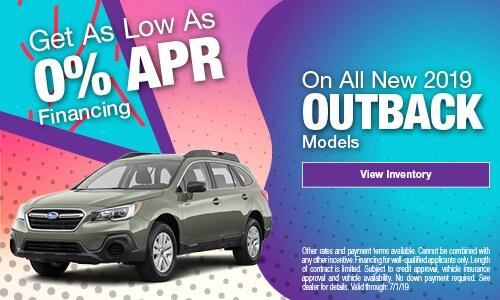 2019 Subaru Outback Finance - June
