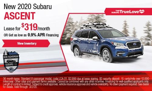 New 2020 Subaru Ascent