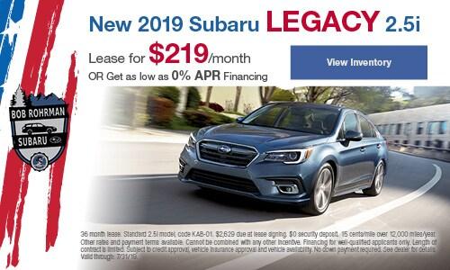2019 Subaru Legacy  - July