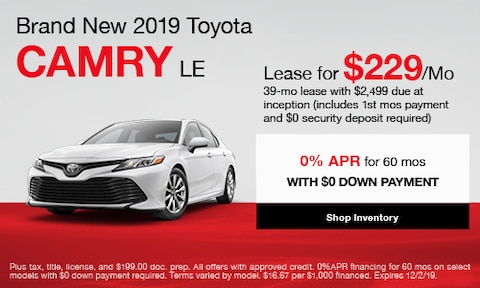 Brand New 2019 Toyota Camry LE