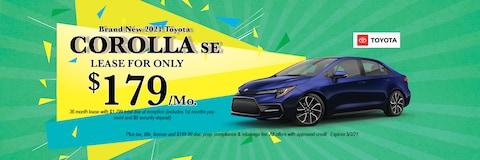 Brand New 2021 Toyota COROLLA LE