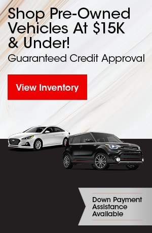 Shop Pre-Owned Vehicles At $15K & Under!