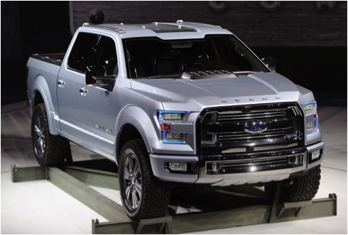 the exterior will also resemble that of the ford atlas concept truck the major redesigns from the 2014 to the 2015 f 150 are the headlamps active grill