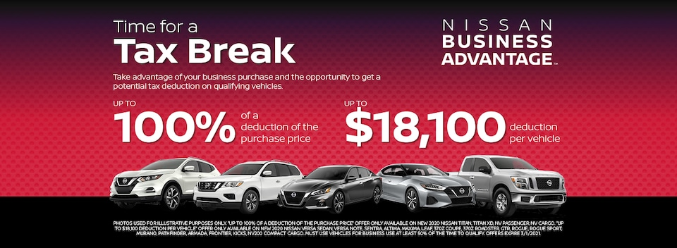 NISSAN BUSINESS ADVANTAGE TAX BREAK