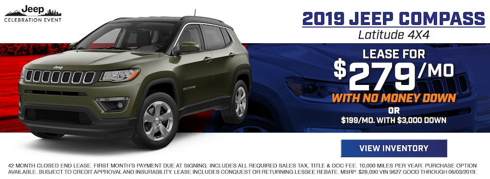 2019 Jeep Compass Latitude 4X4 Lease Special