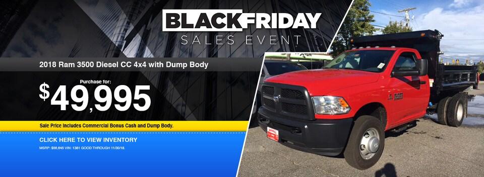 2018 Ram 3500 Diesel CC 4x4 with Dump Body Special