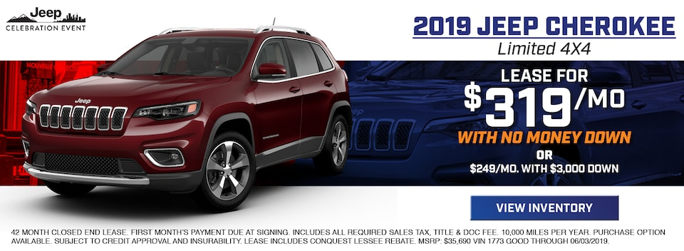 2019 Jeep Cherokee Limited 4X4 Lease Special