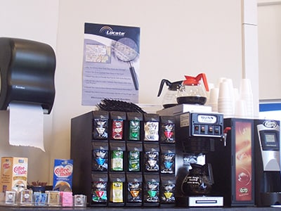fresh brewed coffee and snacks available at Boise Volkswagen