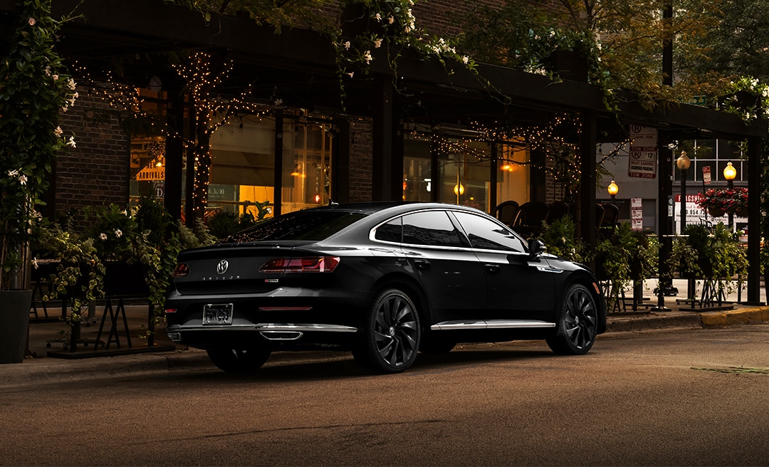 2020 Volkswagen Arteon in Deep Black Pearl parked, back half in view