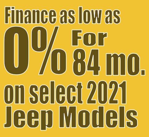 2021 Jeep Model April Finance Special!