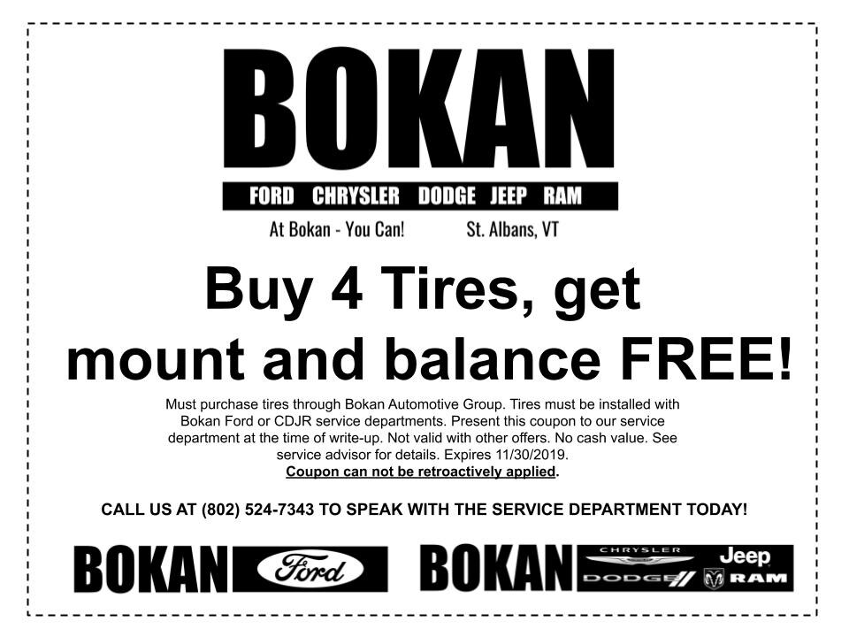 FREE winter tire mount and balance!
