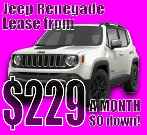 2020 Jeep Renegade October Lease Special!