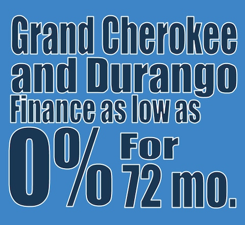 2020 Grand Cherokee and Durango January finance special!
