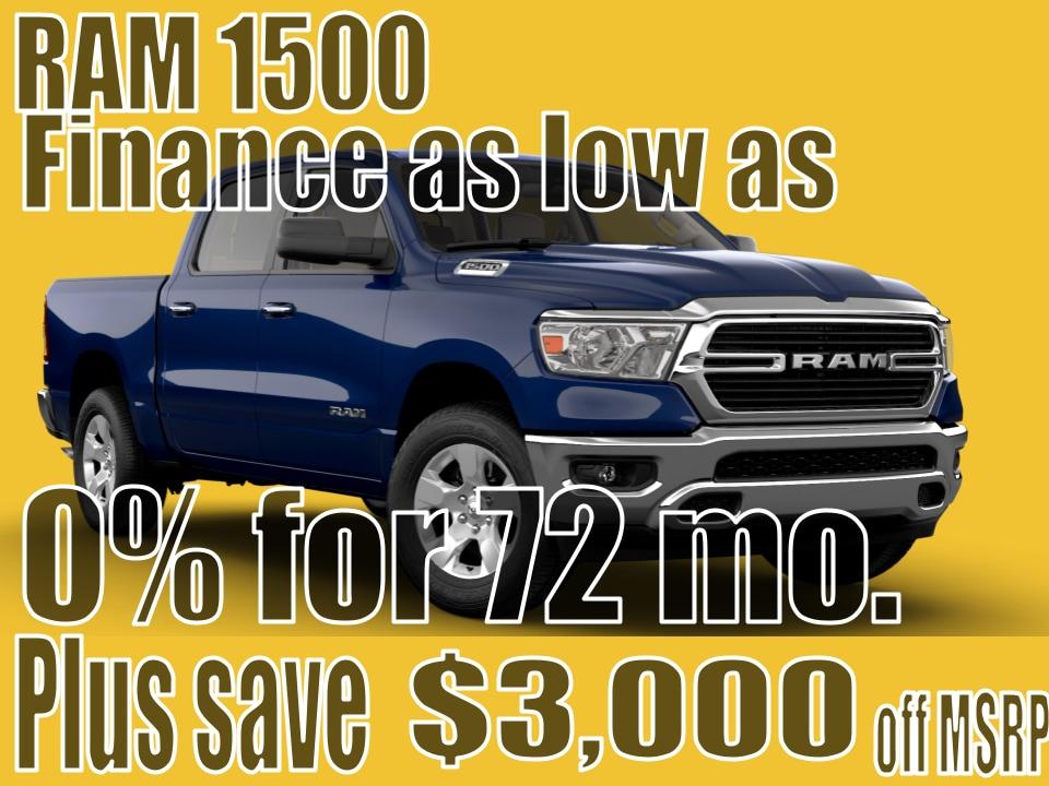 2021 RAM 1500 April Finance Special!