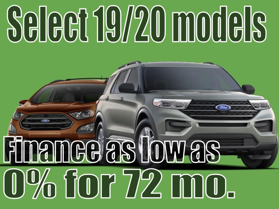 2019-2020 Ford model July Special!