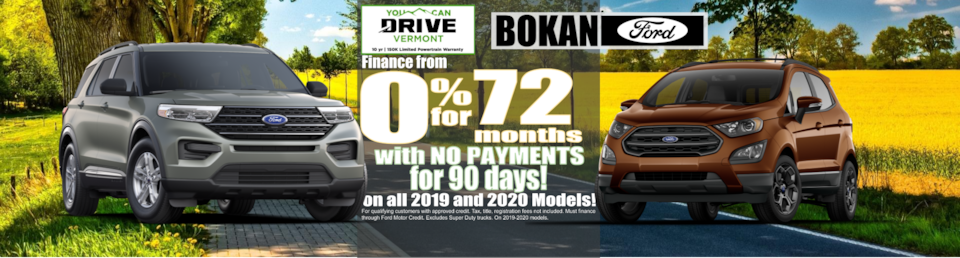 0% for 72 months! With NO PAYMENTS for 90 days!