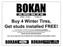 STUDDED Winter Tire Special!