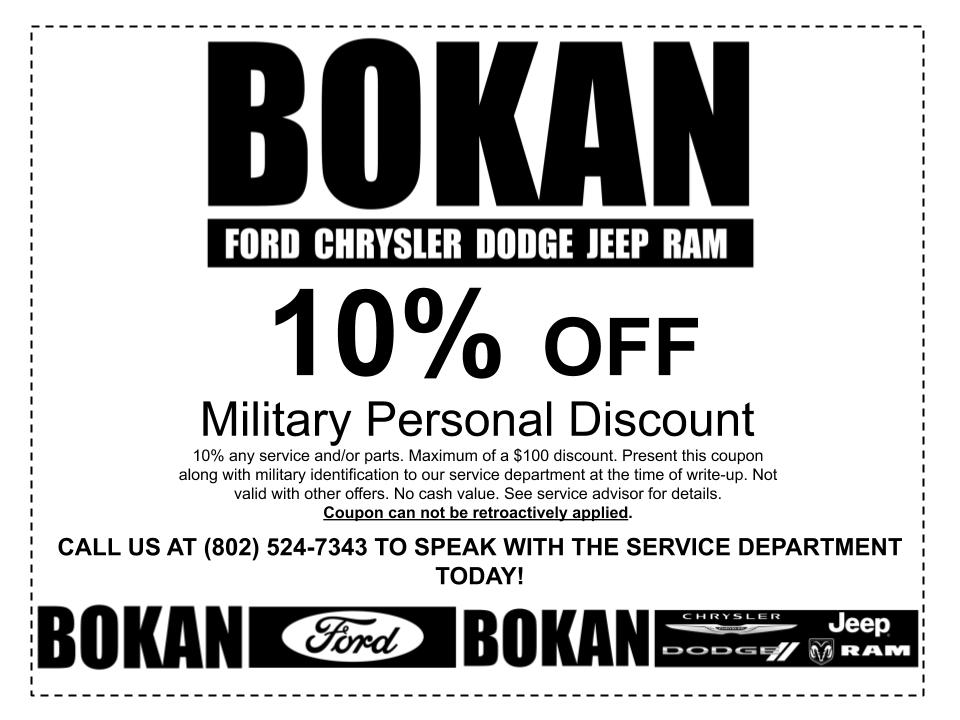 10% off any Service and/or parts!