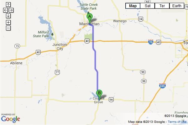 Map Of Manhattan Kansas.Directions From Manhattan Ks To Bolton Car Dealership Map To