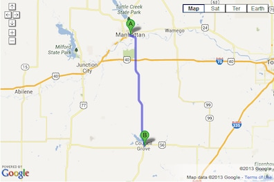 Directions from Manhattan, KS to Bolton Car Dealership | Map