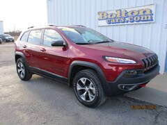 Used 2017 Jeep Cherokee Trailhawk 4x4 SUV 1C4PJMBS5HW639209 for sale in Council Grove, KS