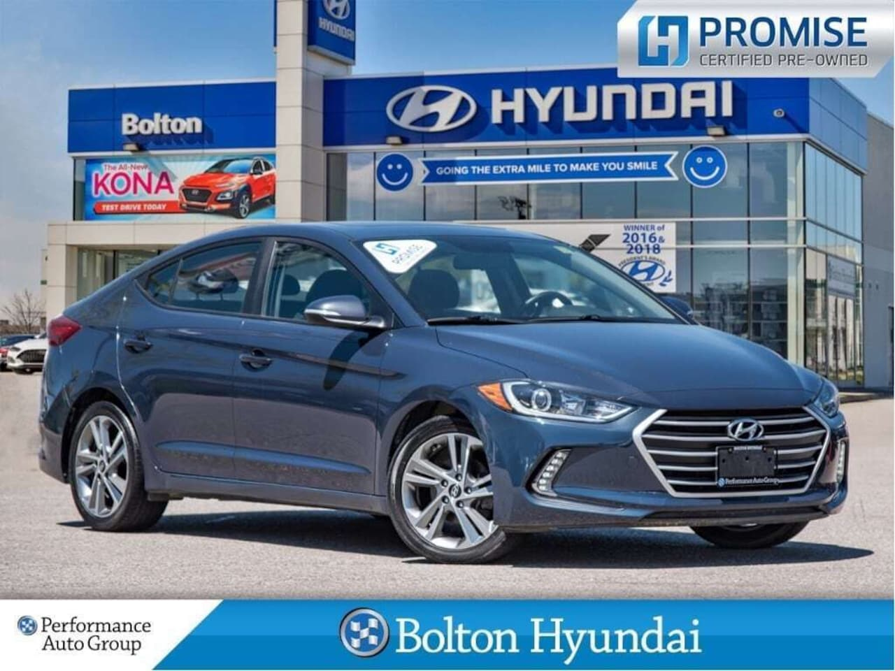 2017 Hyundai Elantra GLS SunRoof Bluetooth HtdSeats CPO HY Certified Sedan