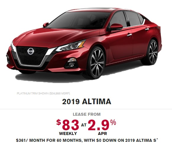 2019 Nissan Altima Special Offer