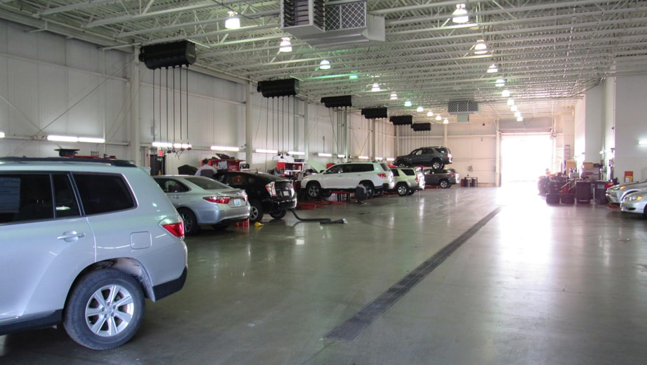 Inside look at the Bommarito Toyota auto service center in Hazelwood, MO