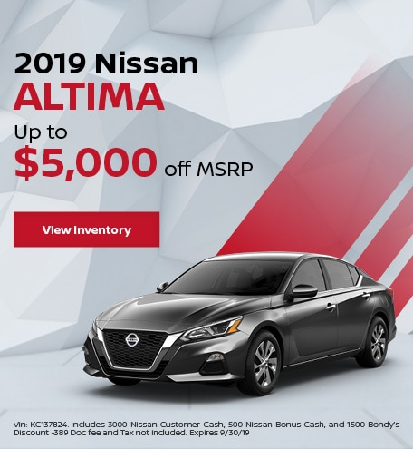 New 2019 Nissan Altima 9/6/19