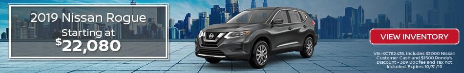 New 2019 Nissan Rogue 10/3/19
