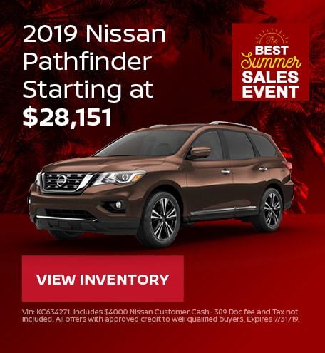 New 2019 Nissan Pathfinder 7/12/2019