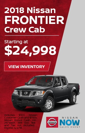 Frontier Nissan Now Sales Event