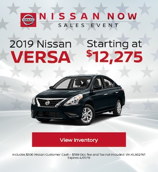 New 2019 Nissan Versa 3/5/2019