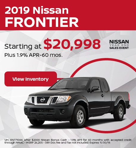 New 2019 Nissan Frontier