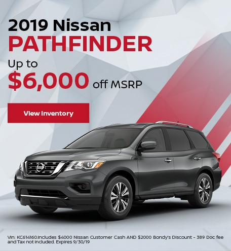 New 2019 Nissan Pathfinder 9/6/19