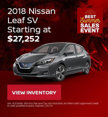 New 2018 Nissan LEAF 7/12/2019