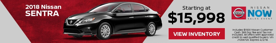 Sentra Nissan Now Sales Event