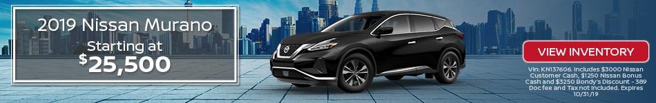 New 2019 Nissan Murano 10/3/19