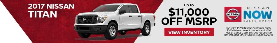 Titan Nissan Now Sales Event