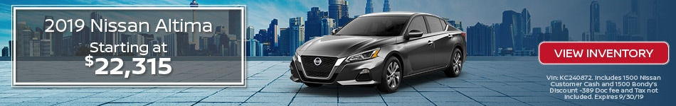 New 2019 Nissan Altima 10/3/19