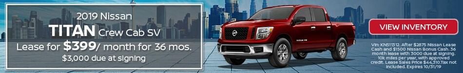 New 2019 Nissan Titan 10/3/19